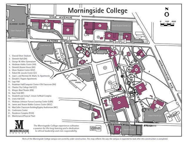 Morningside College Campus Map.Iowa Conference Morningside Campus Map