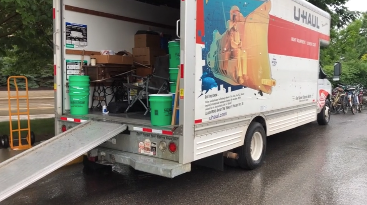 Filling the truck, giving hope