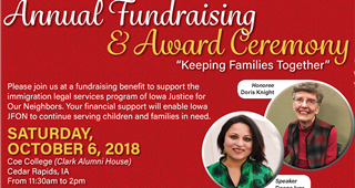 JFON's Annual Fundraising and Award Ceremony