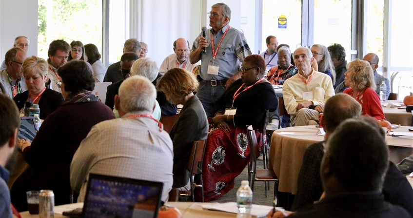 Delegates build relationships, consider what is good for the whole church