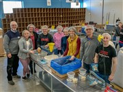 Packing meals for the hungry