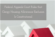 Clergy housing allowance constitutional