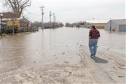 Video tour of flooding in Hamburg, Iowa