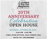 Iowa Justice for Our Neighbors celebrating 20 years of ministry