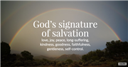 God's signature of salvation