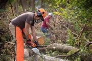 Willing volunteers power the Chainsaw Ministry Team following Iowa derecho