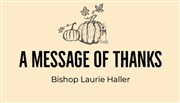 A message of thanks from Bishop Laurie