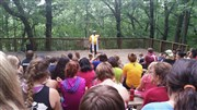 Bishop Trimble celebrates Worship with summer campers at Wesley Wood's Camp and Retreat Center