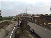 First-hand view of the destruction in Ecuador