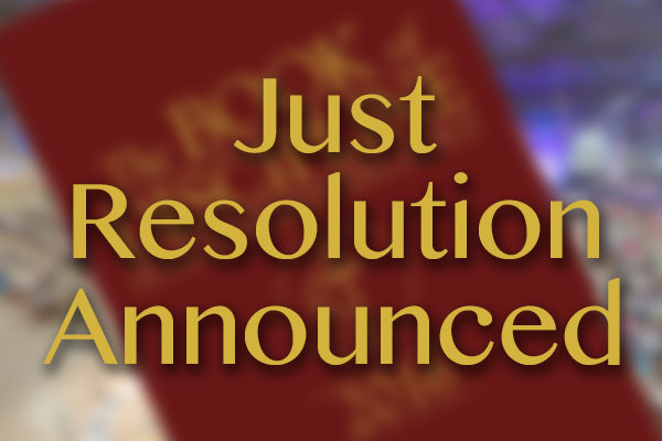 Just Resolution is announced