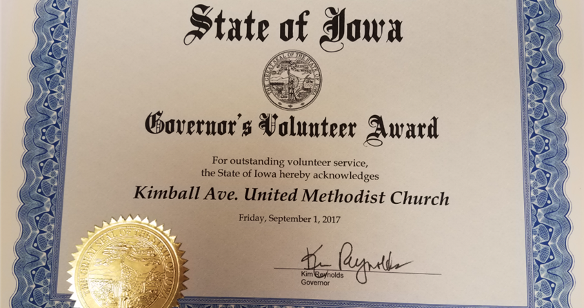 Waterloo Kimball receives award