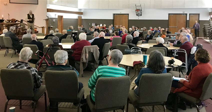 Retirees 'celebrate the present,' receive updates